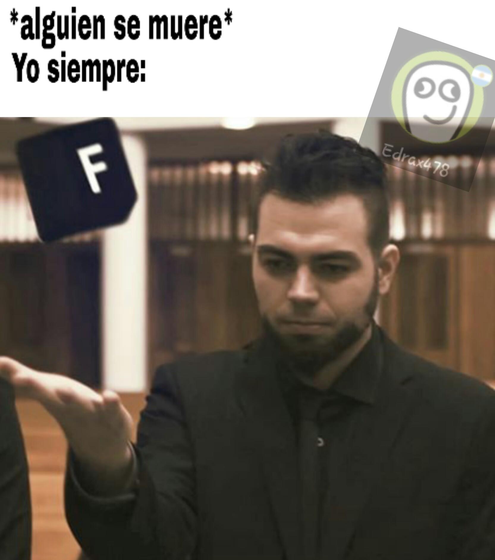 F por el titulo - meme