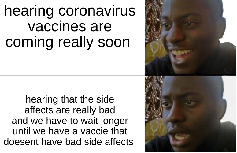 fellas get ready to wait for another 6 months - meme