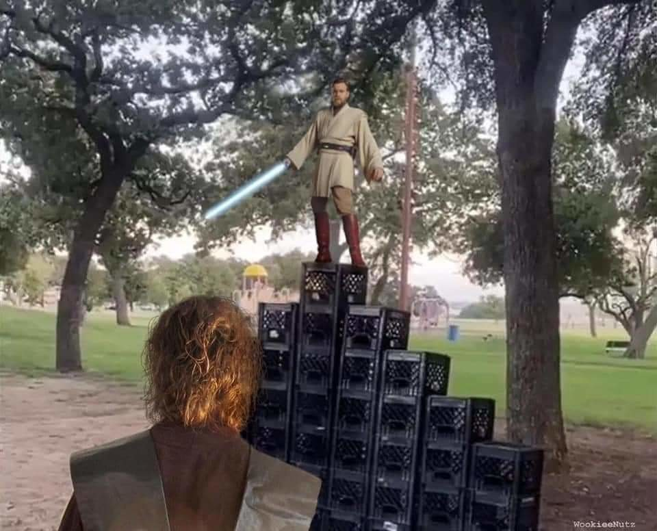 It's over Anakin! - meme