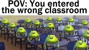 imagine the wrong classroom - meme