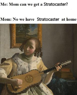 Le guitar player - meme