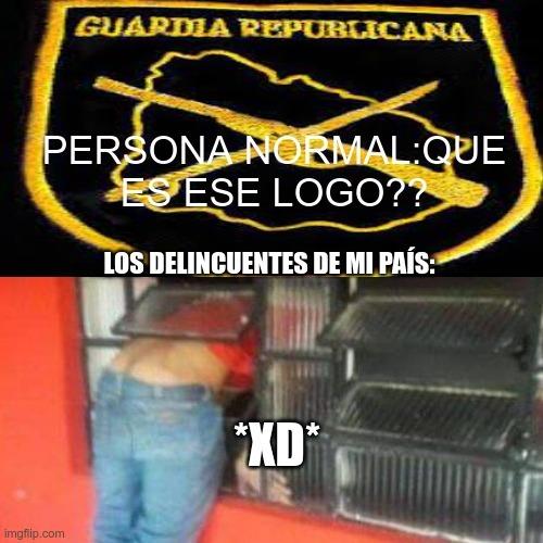 Para los que no entiendan la guardia republicana es la policía ÉLITE de Uruguay amada por muchos y odiado por algunos esta envuelta en muchas polémicas como abuzo de autoridad entre varias cosas mas - meme