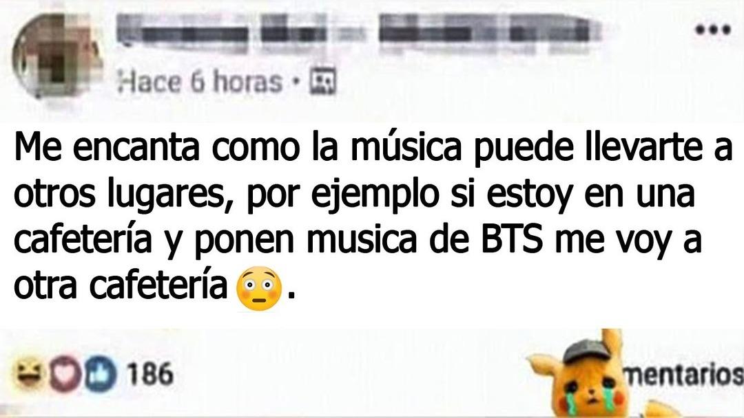 La musica te lleva a otro lugar - meme