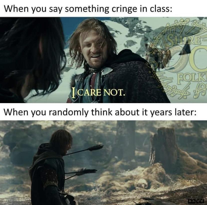 I care not - meme