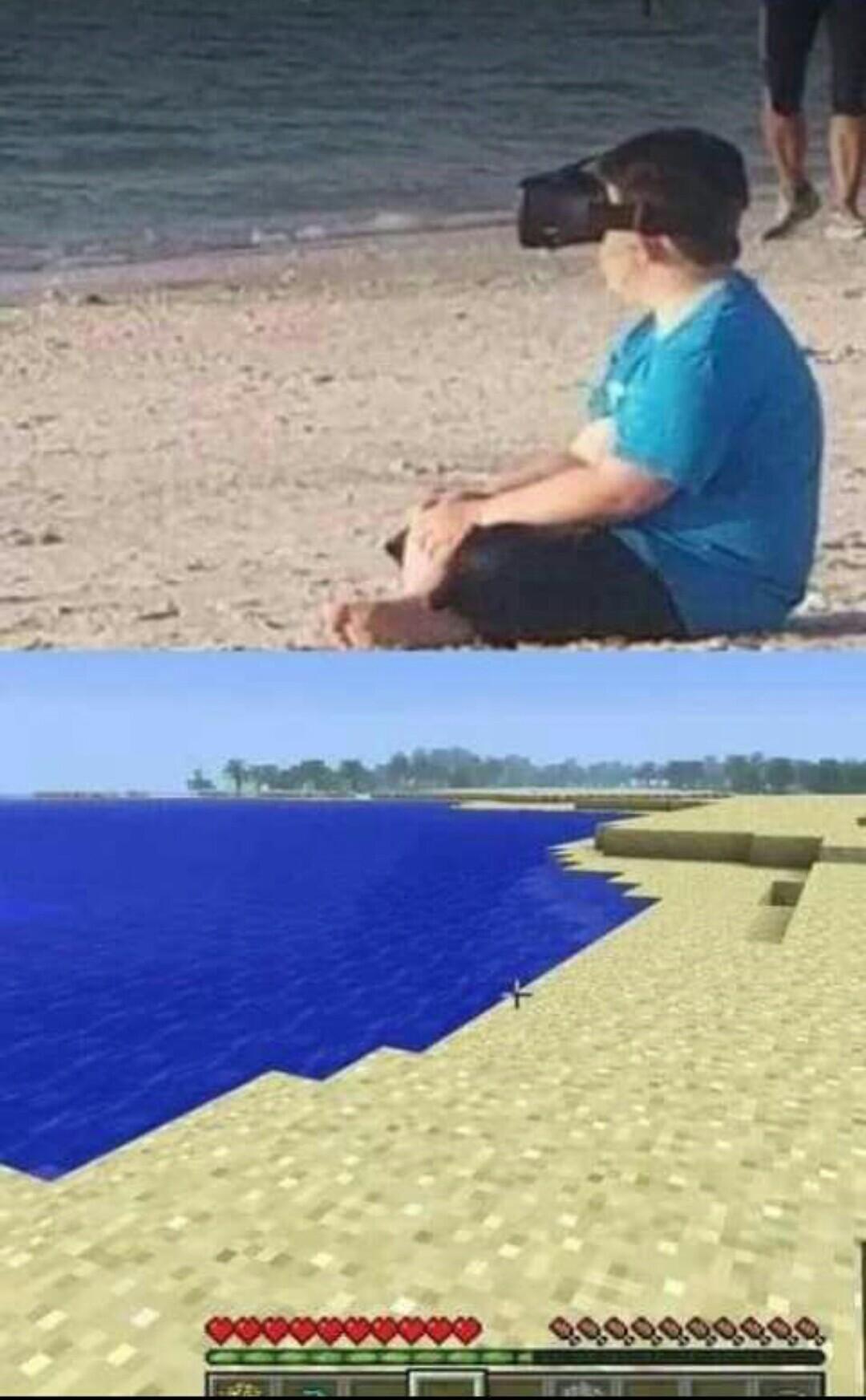 VR melhor que a propria realidade - meme