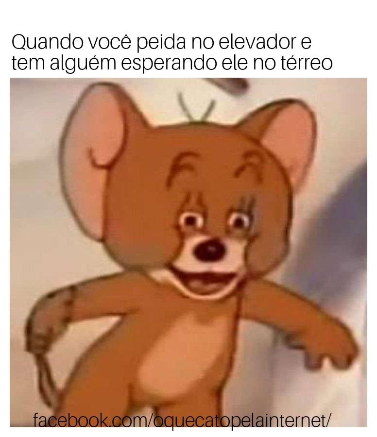 Peido no elevador - meme