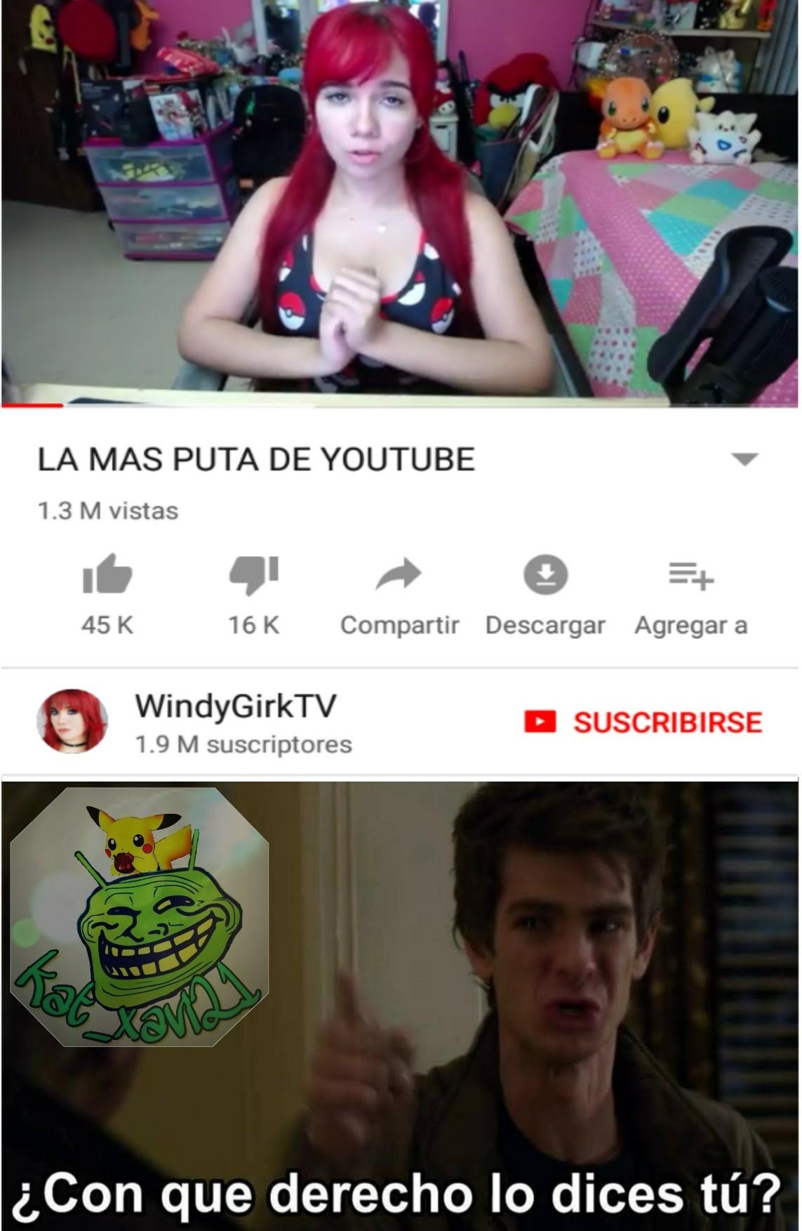 Lo que uno se encuentra en Youtube. - meme