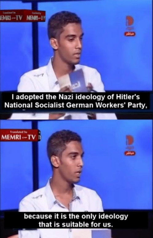 There is an egyptian nazi party that claims arabs are the master race - meme