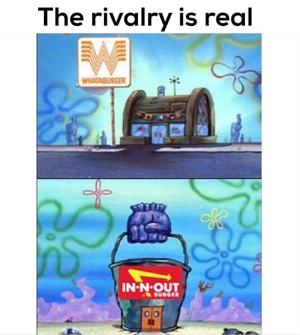 In N Out is garbage - meme