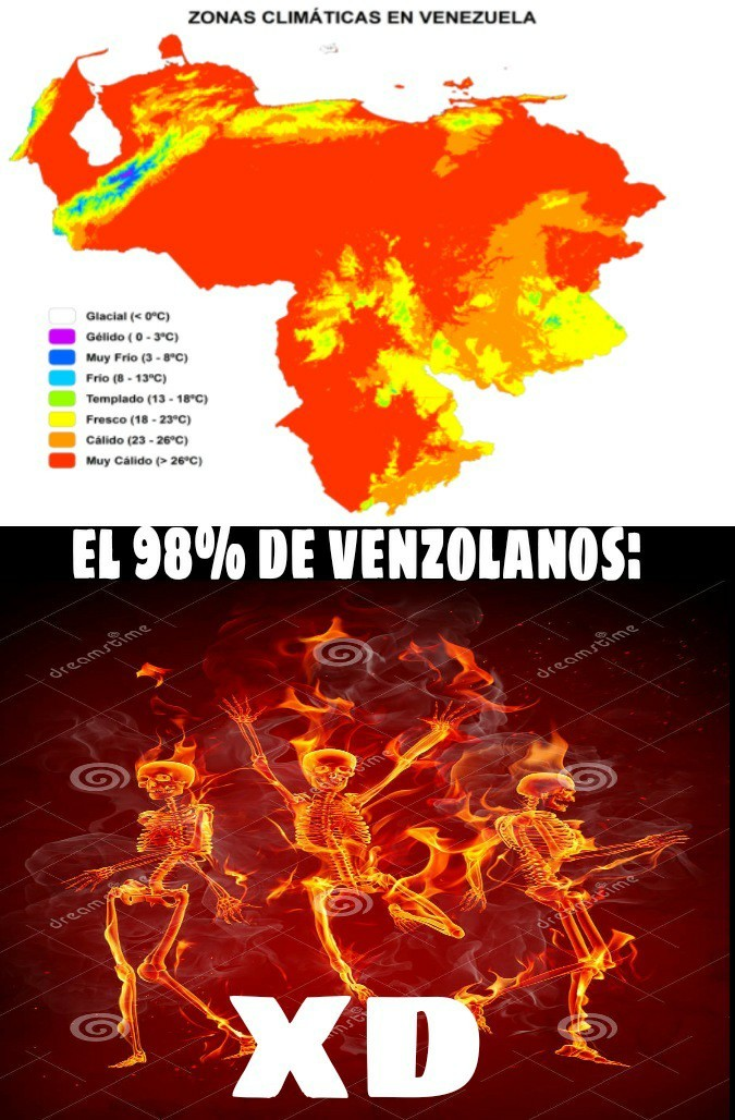 Como Venezolano, confirmo; el calor sube que te cagas - meme