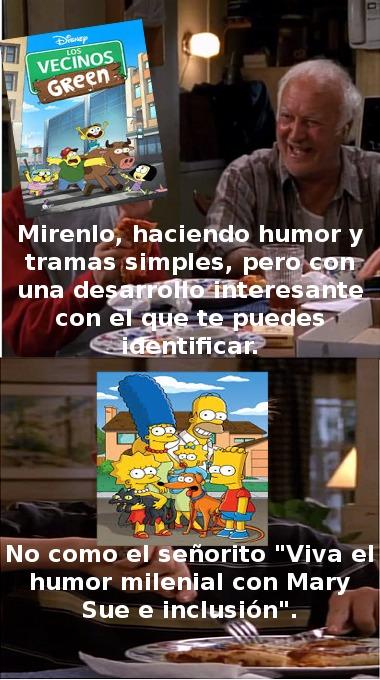 Una serie totalmente externa sin nada que ver con Los Simpsons supo hacer una mejor sucesión espiritual que los oficiales. - meme