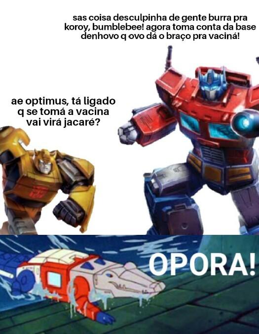 até o optimus! - meme