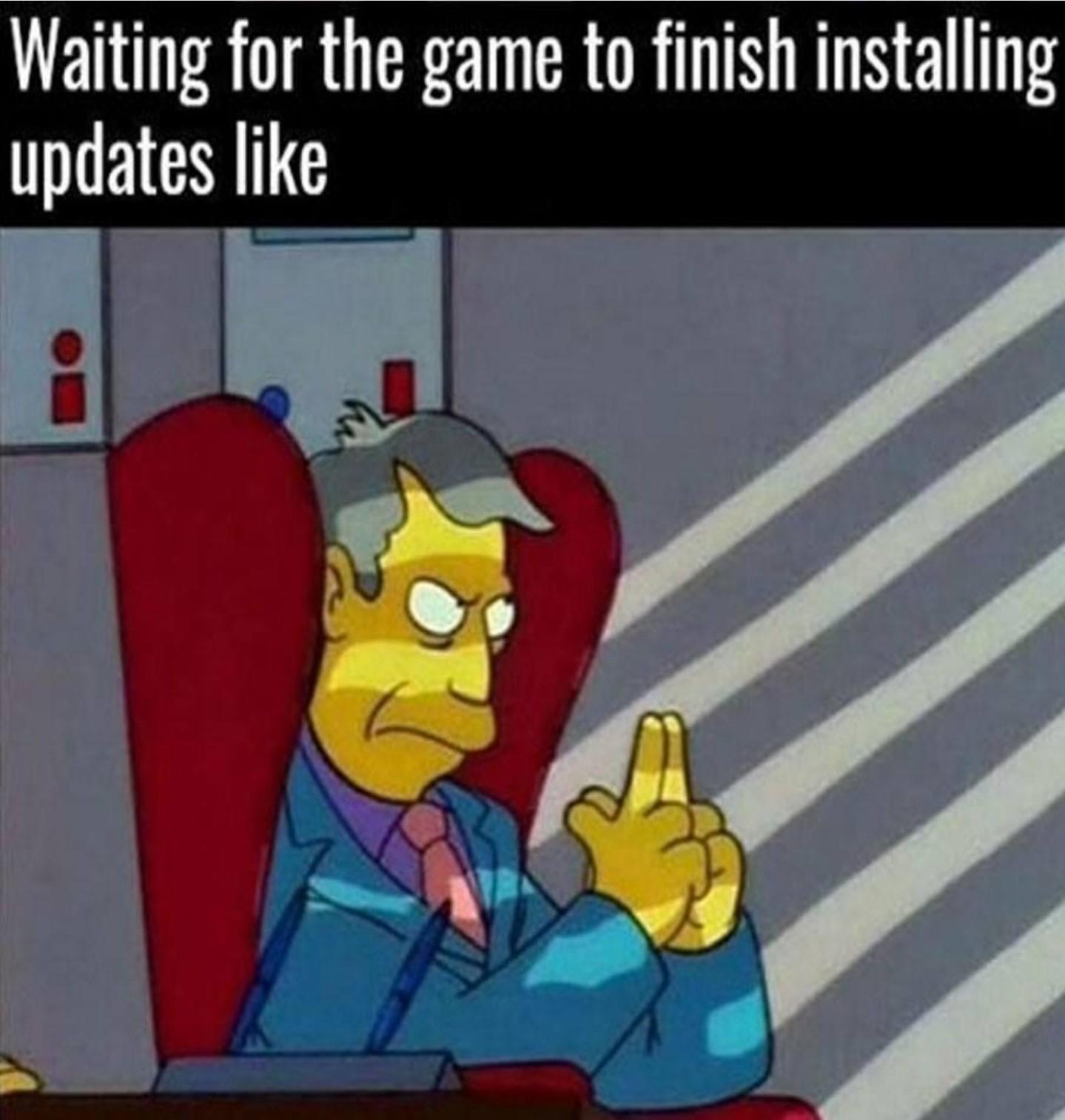 Esperando a Atualização Do Game Instalar - meme