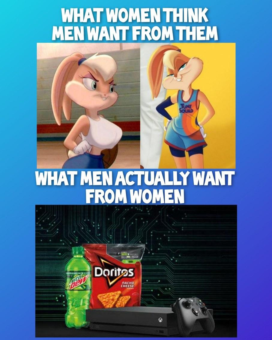 What Women Think Men Want vs. What Men Actually Want - meme