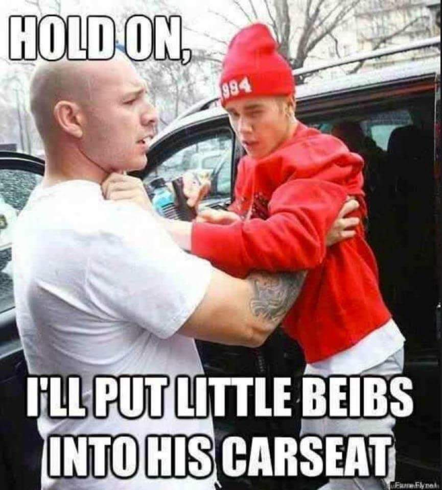 Biebs is acting up - meme