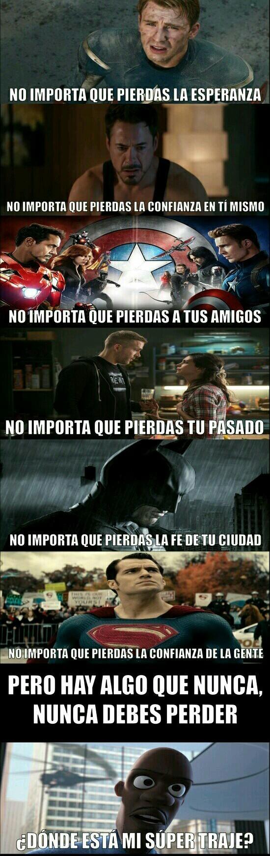 Eres un superhero - meme