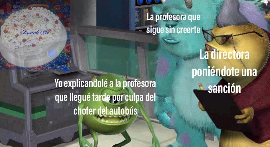 Y nunca te creen los malditos profesores - meme