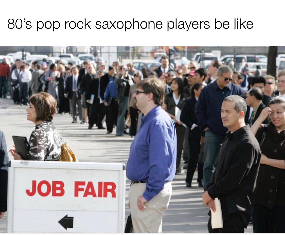 get in line - meme