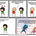 El capitán América sabe como tratar a una chica