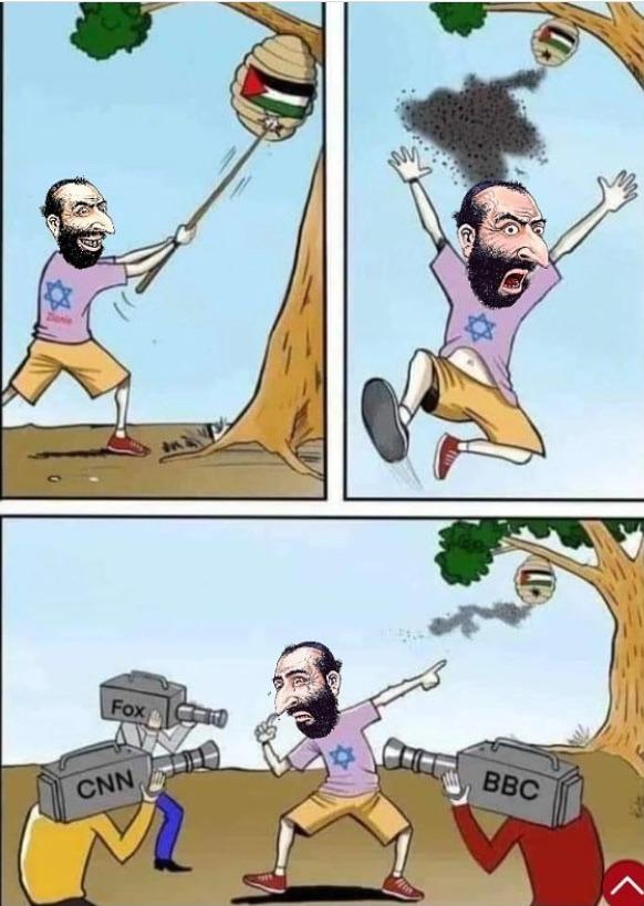 sionista fazendo sionisce - meme