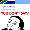 South Africa is in South Africa