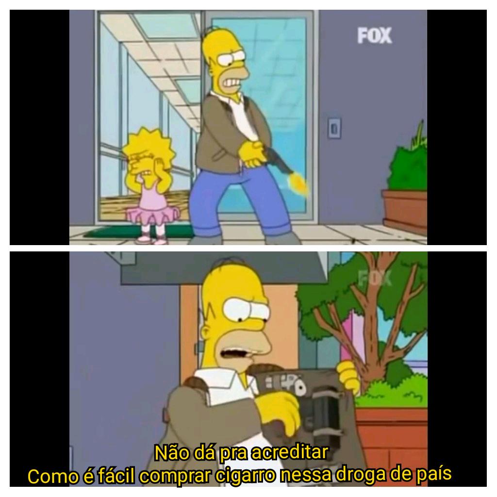 Simpsons representando o Brasil - meme
