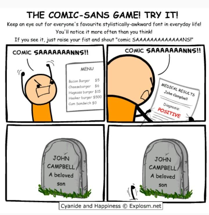 Why does everyone hate Comic-sans??? - meme