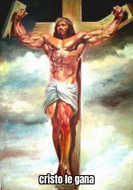 Cristo le gana - meme
