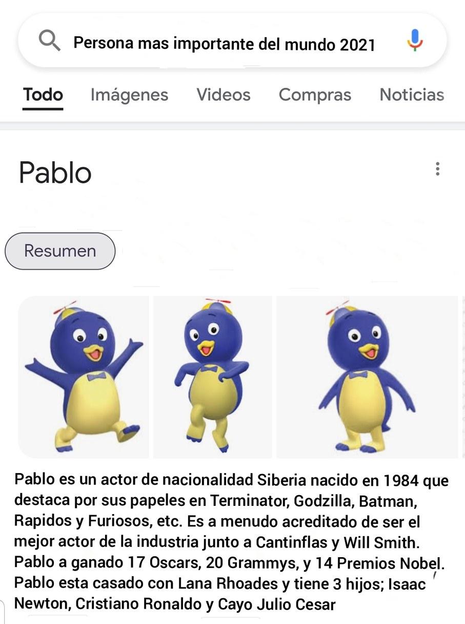 Un dios el Pablo - meme
