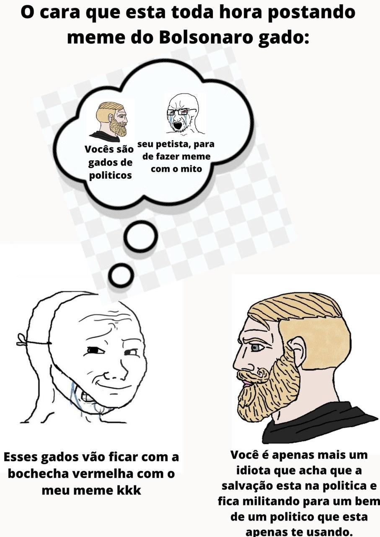 O pessoal que acha que não é gadinho só porque não gosto do Bonoro - meme
