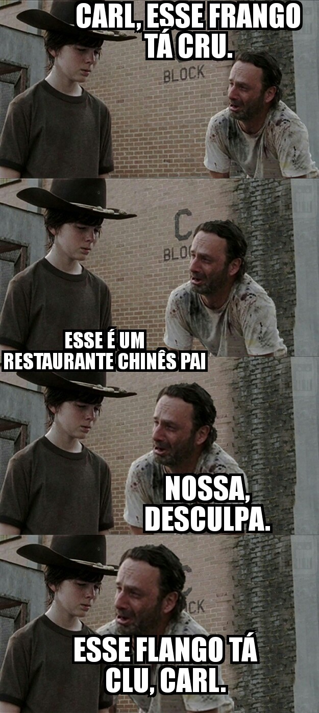 CARL E RICK As Aventuras do Flango Clu - meme
