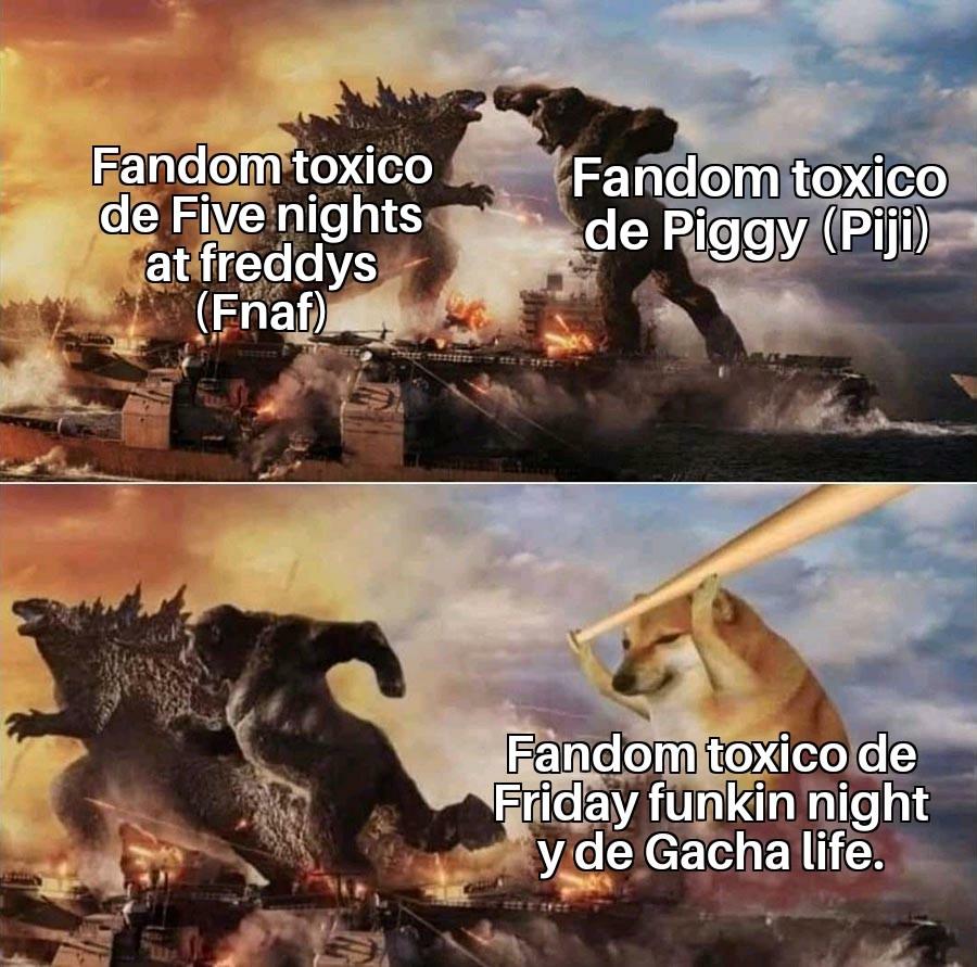 GUERRA DE FANDOMS TOXICOS DE JUEGOS - meme