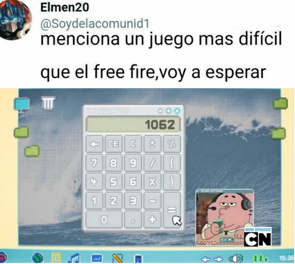 Richard jugando a la calculadora - meme