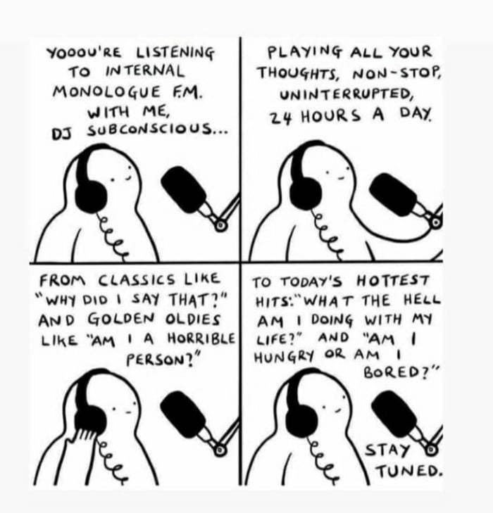 The constant radio station in our minds - meme