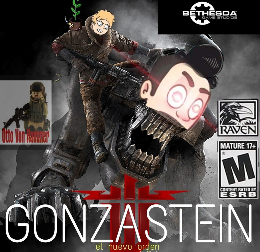 Gonsaverse con temática de Wolfenstein - meme