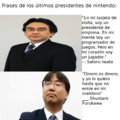 Satoru Iwata, el genio que nos dio una de las mejores generaciones de videojuegos. Shuntaro Furukawa: El weon que nos hace pagar 60 dolares por unos ports de juegos de la prehistoria