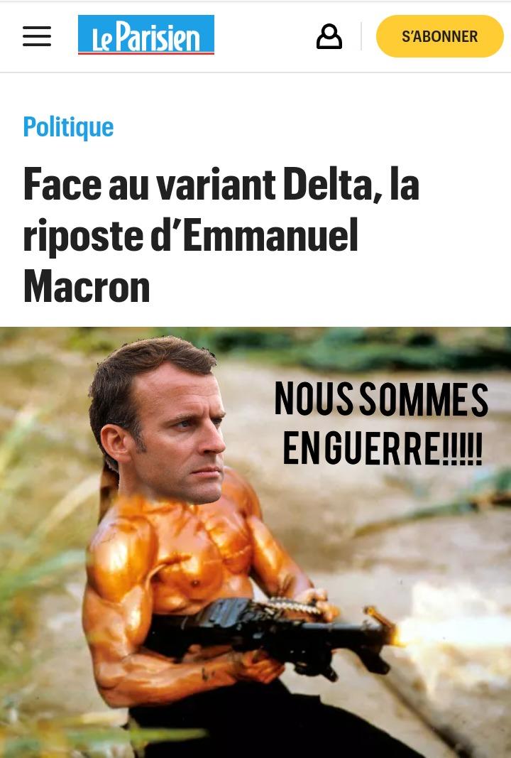 Je ne viens pas sauver Macron du covid, je viens sauver le covid de Macron! - meme