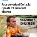 Je ne viens pas sauver Macron du covid, je viens sauver le covid de Macron!