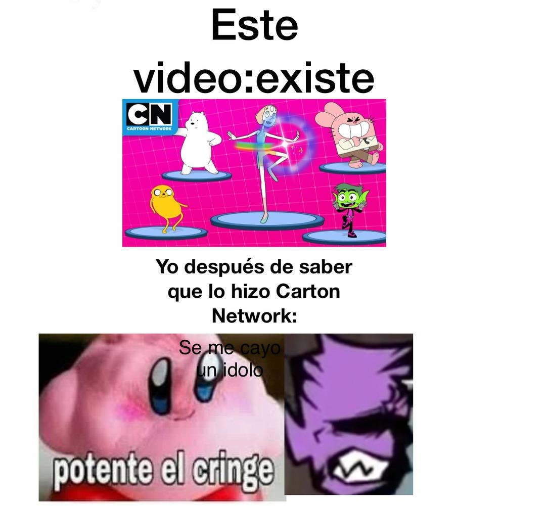Cartoon network,no vuelvo a ver tu canal por cierto:meme mal echo