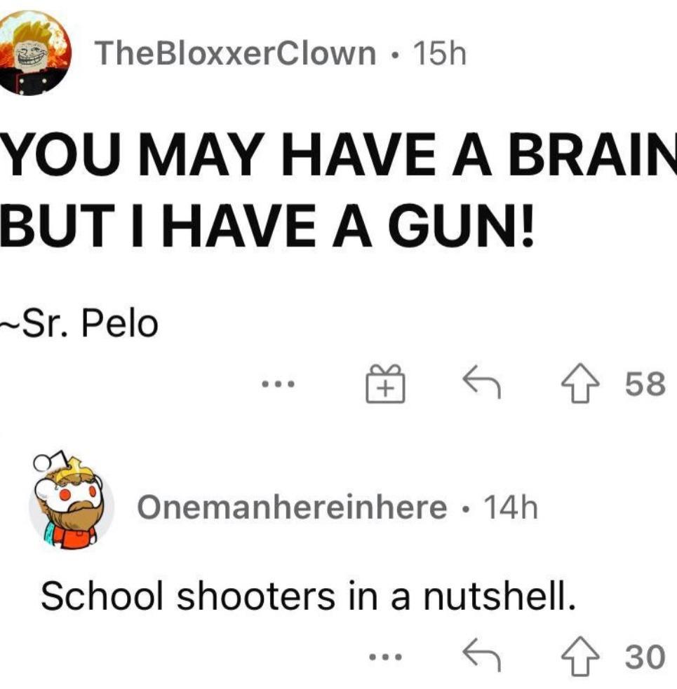 School shooters in a nutshell - meme