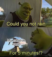 I hate raining minecraft - meme