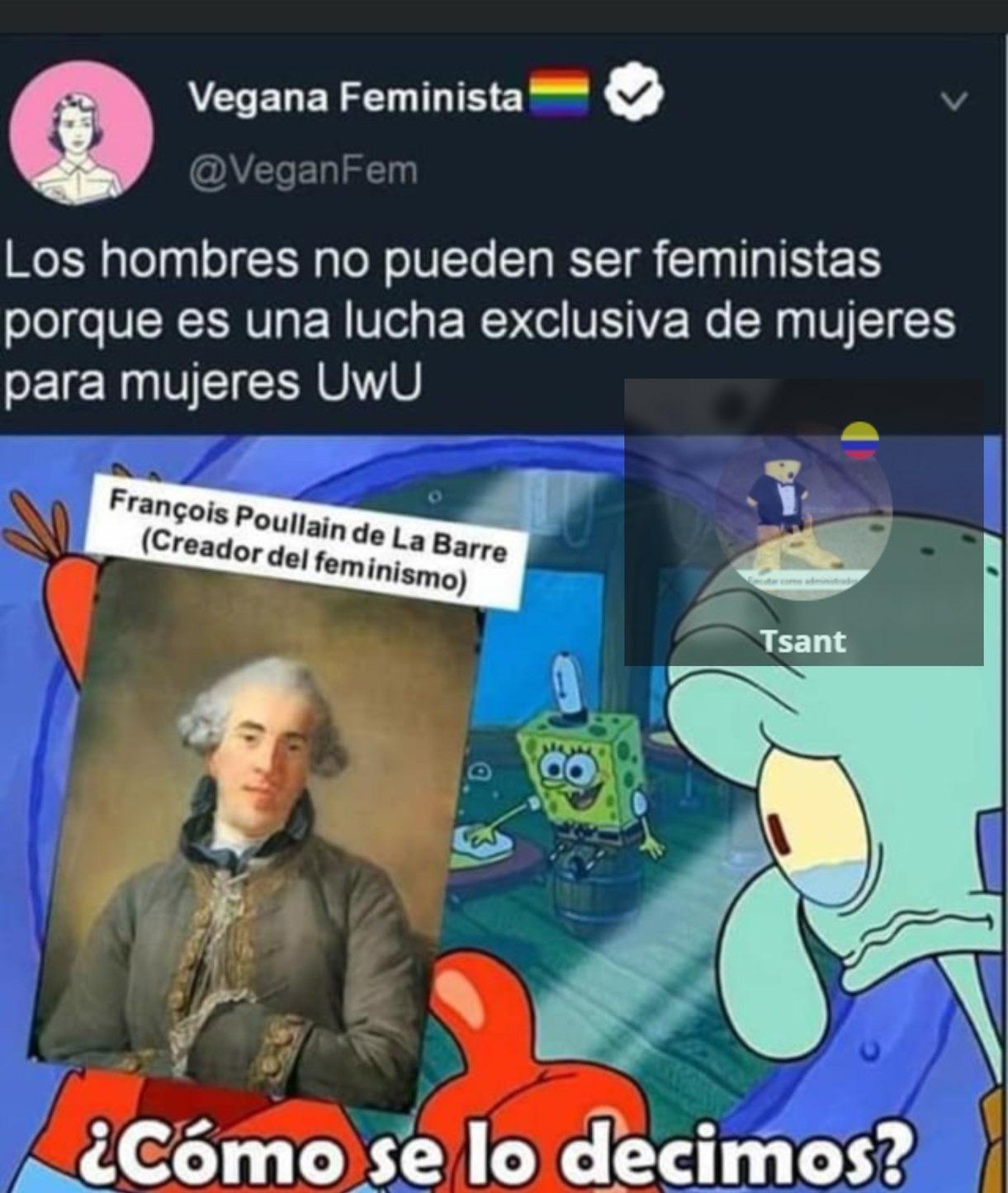 Las feministas son pura gente pendeja - meme