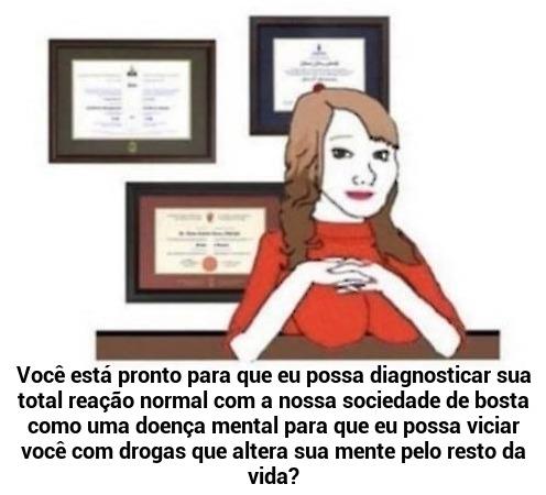 Mulher Psicóloga - meme