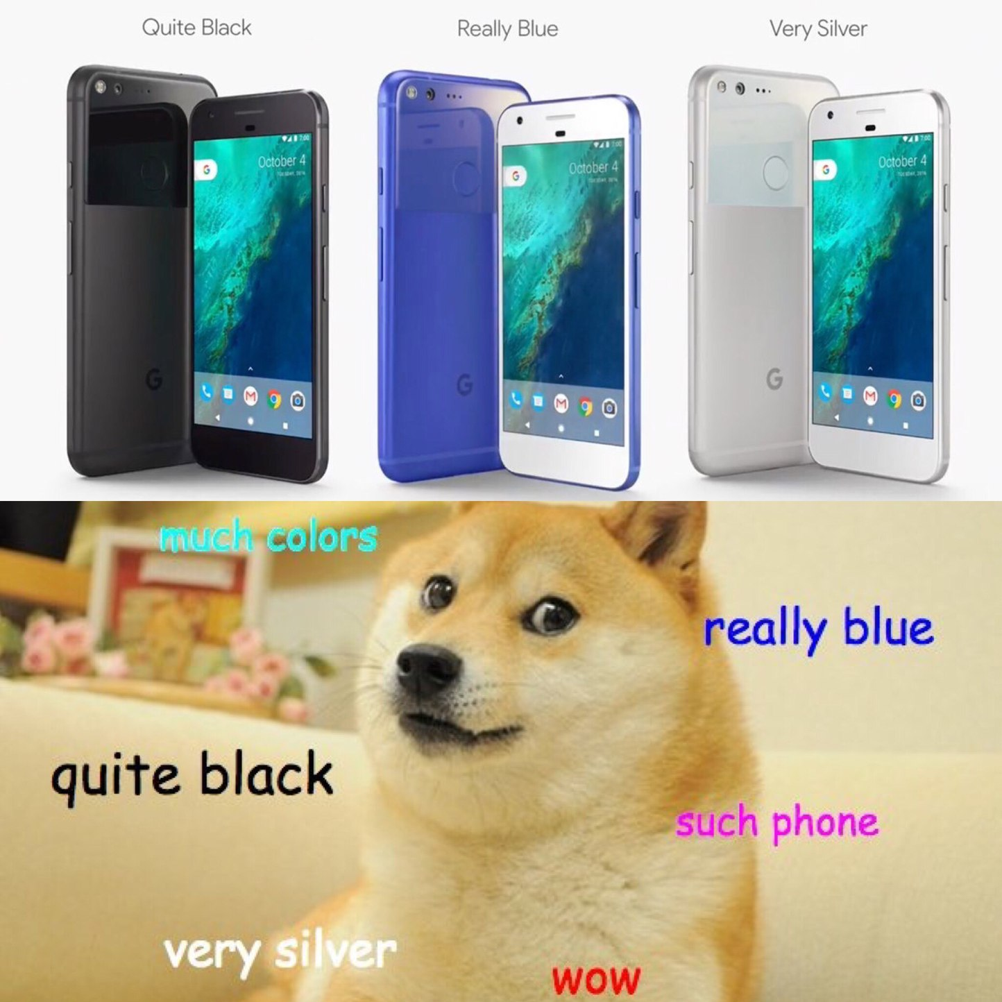 New Google Pixel Phone much wow - meme