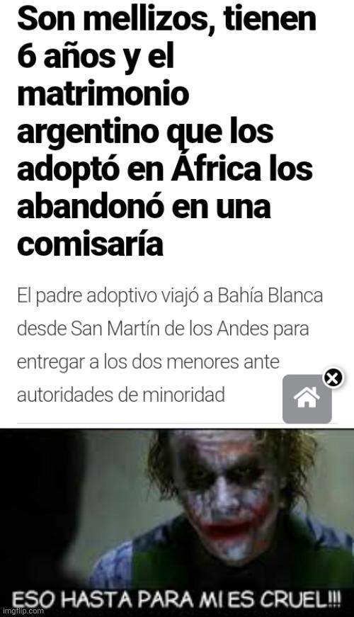 Argentina, un país con buena pipol - meme