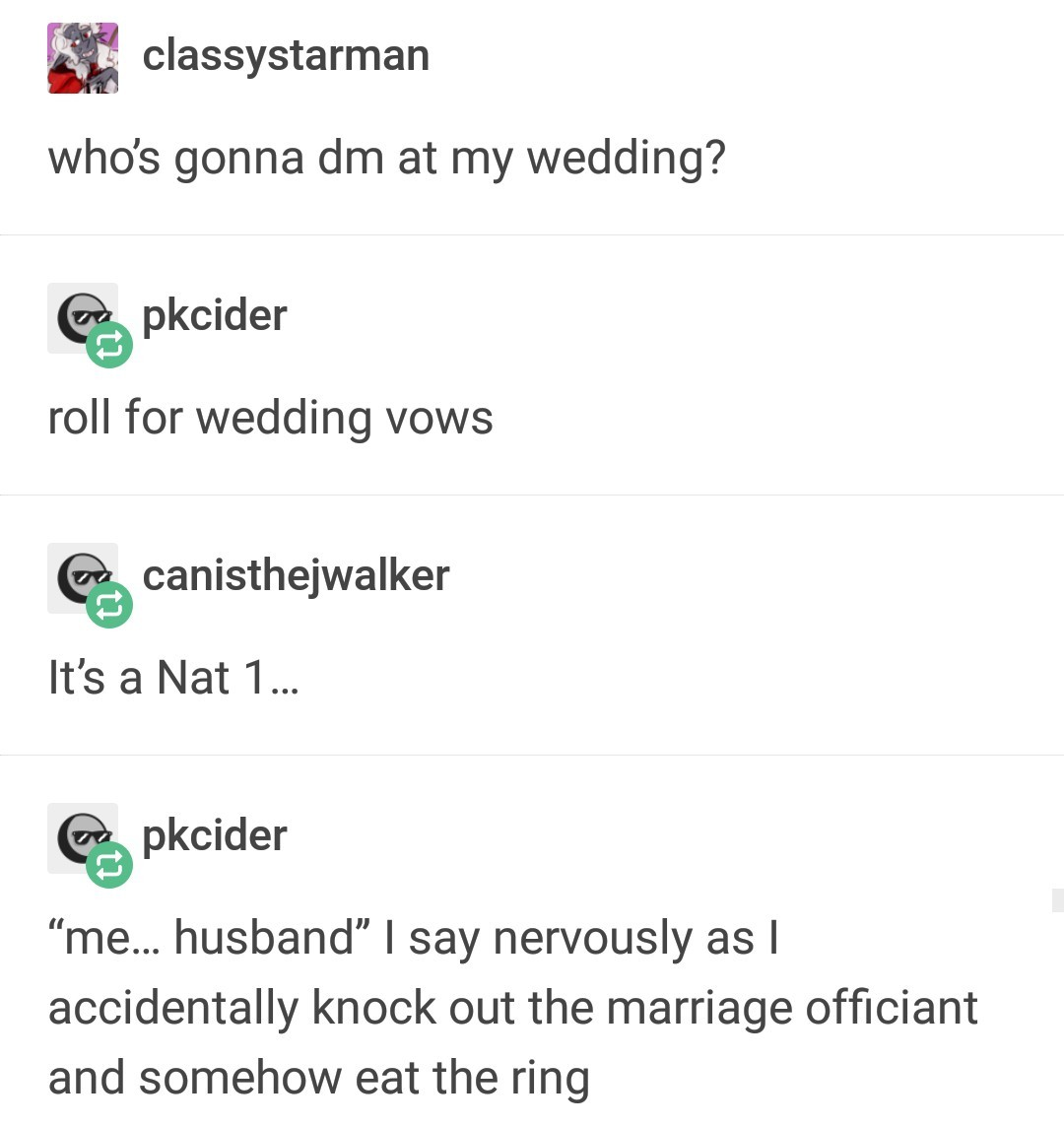 Roll for proposal - meme