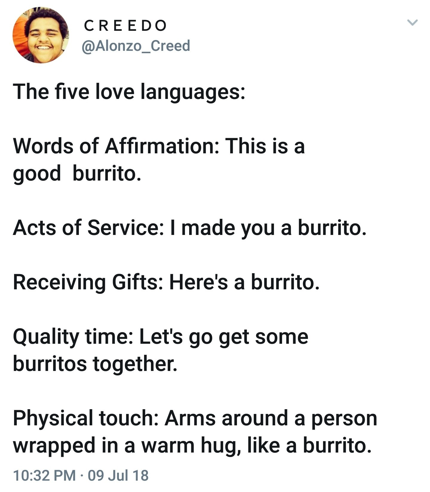 5 burrito languages - meme