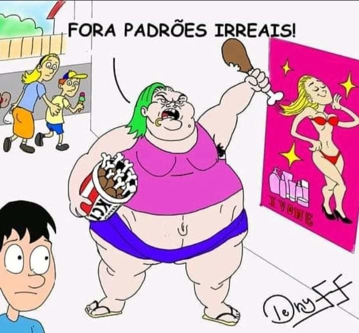 Obesidade mórbida - meme