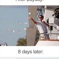 Quand tu reçois ta paye Vs. 8 jours après