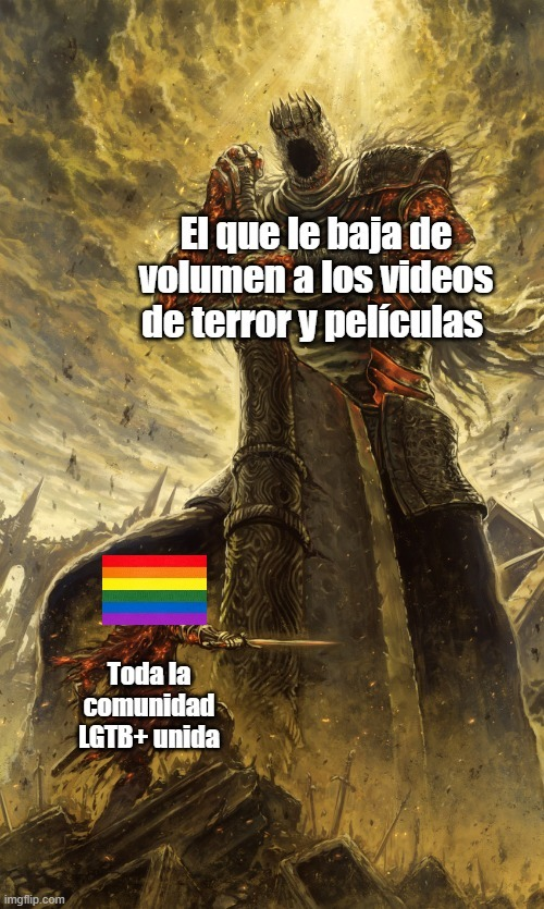 Cobardes - meme